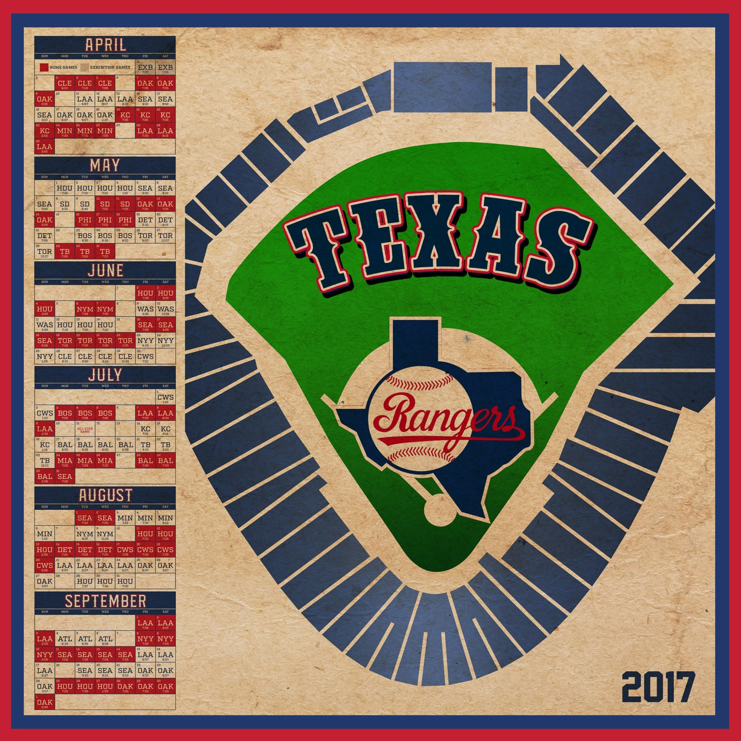 It is an image of Sweet Texas Rangers Schedule Printable