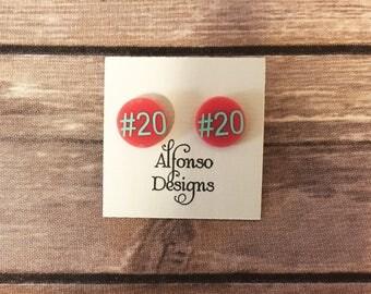 Sports Number Earrings, Number Earrings, Sports Earrings, Personalized Earrings