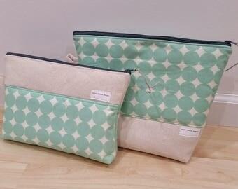 Mint Dot Make Up & Toiletry Bag Set, Make Up Bag, Travel Bag, Gift Set