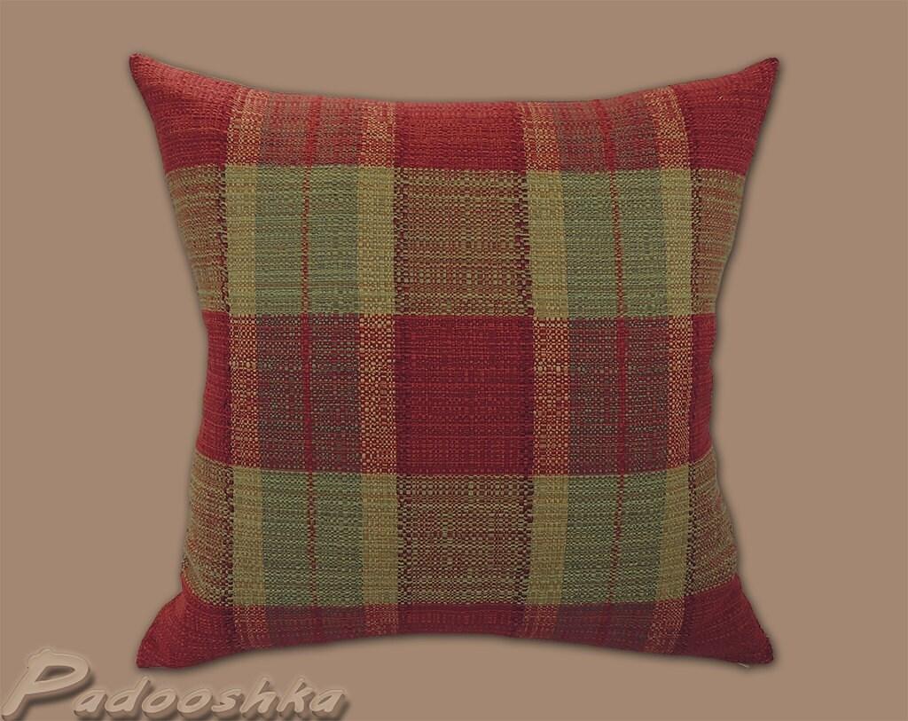 Rustic plaid throw pillow cover Tartan cushion cover