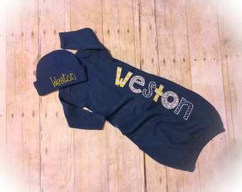 Custom Embroidered Coming home outfit BABY BOY