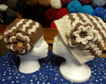 Crochet Mommy and Me Hat, Messy Bun Beanie