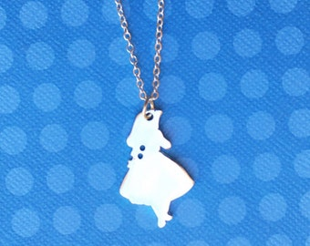 "Femme Wonderland Collection ""Alice Silhouette"" Alice in Wonderland Silhouette Necklace"
