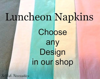 luncheon napkins dinner napkins wedding napkins stamped napkins bridal shower napkins baby shower napkins birthday napkins