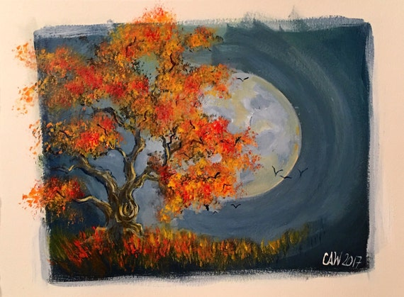 "ORIGINAL ART: ""Autumn Night"""