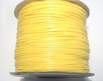 30ft Yellow Korea Waxed Polyester Cord 1mm( No.125)