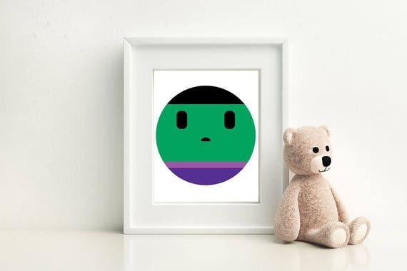 Hulk Little Boy- Nursery and Children's Room art print