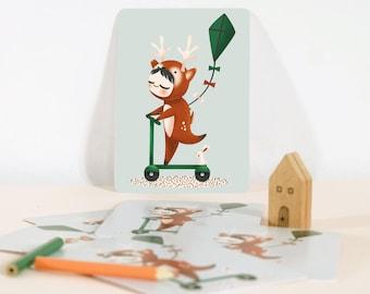Card - Les Adorables Costumés  :  the deer