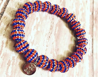 OKC Thunder beaded bracelet