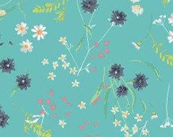 Fabric - Art gallery - jersey fabric - Lavish Blossom Swale Calm Knit