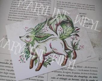Card mailing magic Fox leaf Pokémon Eevee