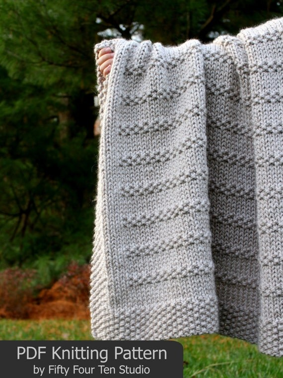 Blanket KNITTING PATTERN / Stones in the Road / Throw / Afghan / Knit / Gift ...