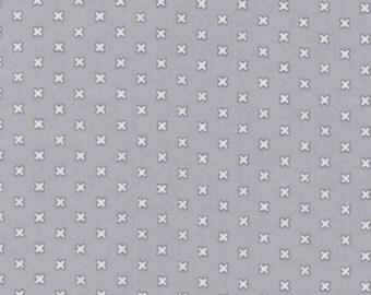 Cross Stitches - Gray by Lecien (31196-90) Cotton Fabric Yardage
