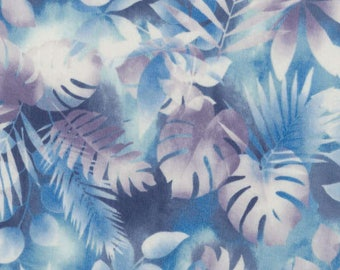 RJR Fabrics Blue Leaves Cotton Fabric by the Yard 1438J-003