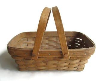 Longaberger Basket With Swinging Bail Handles, 1986