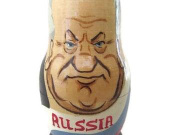 Nesting Eggs; Babushka Eggs, Matryoshka Eggs, Russian Nesting Eggs, Set Of 5, 1980's