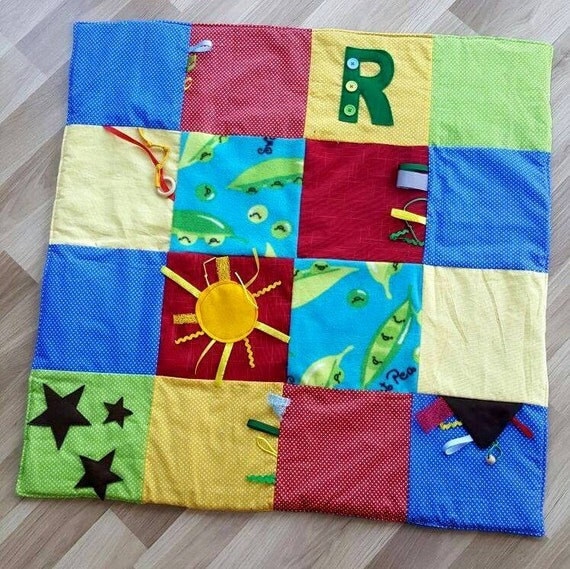 Handmade Baby Play Mat Tummy Time Activity Mat
