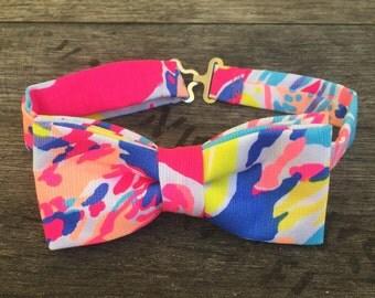 Lilly Pulitzer Sunken Treasures Pink Bow Tie