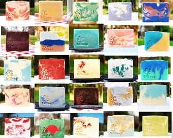 Homemade Farm Fresh Goat Milk Soap - You Choose Scents - Homemade Soap Sampler - Soap Gifts - Assorted Goat Milk Soaps