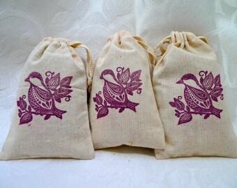 Lavender Scented Sachets, wedding favors, shower favors, closet fresheners