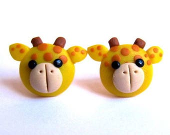 Giraffe Earrings, Yellow Earrings, Animal Earrings, Animal Jewelry, Girls Earrings, Childrens Earrings, Childrens Jewelry, Gifts For Kids