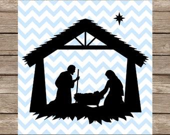 Nativity svg, Christmas svg, Nativity Scene svg, Nativity silhouette, svg, svg files, svg files for cricut, svg silhouette, svg designs, dxf