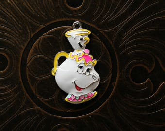 Chip and Mrs. Potts Inspired Pendant for Chunky Bubblegum Necklaces