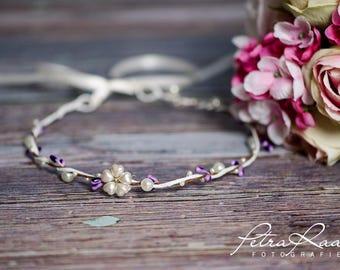 Flower wreath wedding hair accessories flower girl hair flower wedding flower wreath headband wedding boho A6