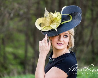 Hat Royal Ascot has ball Hat Kentucky-Derby horse racing has couture millinery Sinamay wedding Fascinator U14