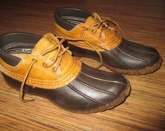 Vintage L L Bean Maine Hunting Shoe Duck Shoes Brown Ladies Size 7