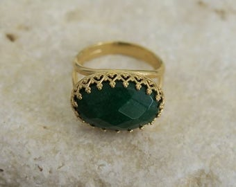 Stone Ring, Big Stone Ring, Gold Ring, Unique Rings, Fashion Jewelry, Beautiful Jewelry, Vintage Jewelry, Gold Stone Ring, Classic Jewelry