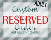 CUSTOM ORDER for Hannah M (t2dancer), Custom Shirt