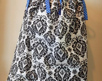 Bandana Dress - Girl's Western or Summer Dress - 4T - Children's Clothing - Young Lady's Blouse - Bandanna Western Wear - White Black Fleur