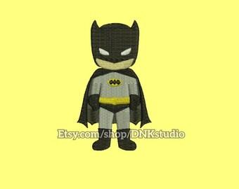 Cute Batman Superhero Embroidery Design - 4 Sizes - INSTANT DOWNLOAD