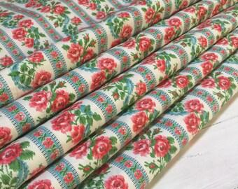 Unused Pretty French Vintage Flowery Fabric