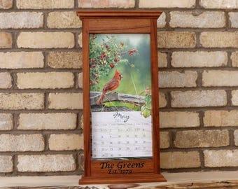 Wall Calendar Frame Front Loading Home Decor Framed Furniture