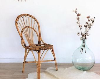 Rattan chair, mid century chair, vintage, chair, mid century modern, 60s, model Sybille