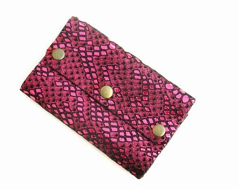 Leather card holder. 12 card holder. Card wallet. Business card holder. Pink leather card holder. Leather business card holder.