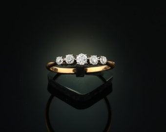 Art Deco diamond five stone ring