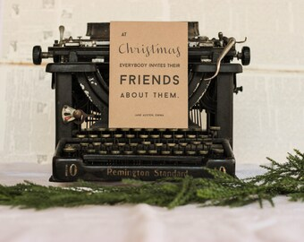 Jane Austen Emma Christmas Card
