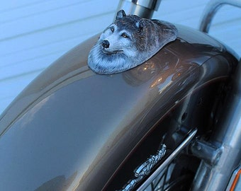 Wolf head motorcycle fender, harley, motorcycle art, motorcycle accessories, wolf, wolf head, motorcycle fender