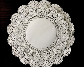 """120 ct. Variety Pack Cambridge 8"""" & 10"""" Paper Lace Doilies Assortment White Doily"""