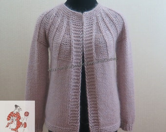 "Knitted woolen cardigan ""Ash Rose"""