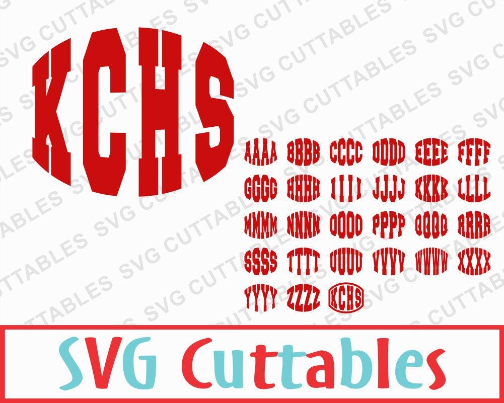 Round monogram letter sport vector font