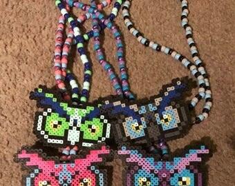 EDC Owl Kandi Necklace