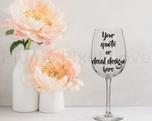 Wine Glass Mockup, Styled Stock wine glass Image, Mock up wine glass for Decals, stickers or engraving, Digital file, mock-up