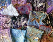 Collectible and creative  designs  of GOLD Embroidered Lavender Bags, Assorted sizes, made to order, filled or for self fill.