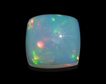 Ethiopian Welo Opal Loose Gemstone Cushion Cabochon 1A Quality 6mm TGW 0.45 cts.