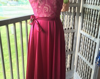 Vintage burgundy nightgown