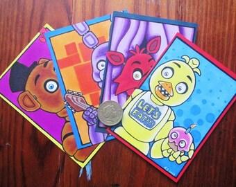 FNAF Art Cards, Freddy, Bonnie, Foxy, Chica, Five nights at freddys, Markers, Promarkers, Fanart,  Fan Art, Art, Rabbit, Fox, Bear, Chicken